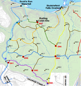 Scotts Run Trail Map (Partial)