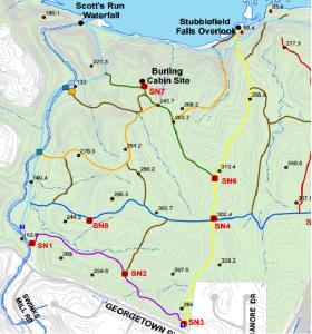 Scotts Run Trail Map (Partial)